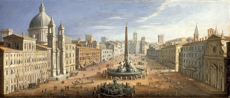 View of Piazza Navona by Hendrik Frans van Lint, c. 1730